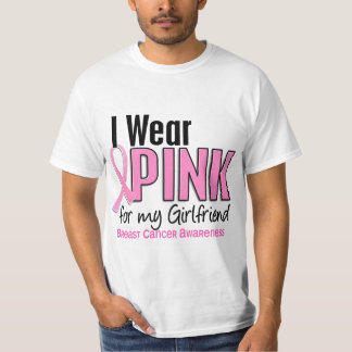 I Wear Pink For My Girlfriend 10 Breast Cancer T-Shirt