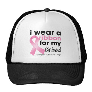 I Wear Pink For My Girlfriend Breast Cancer Mesh Hats