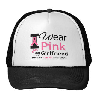 I Wear Pink For My Girlfriend Mesh Hats