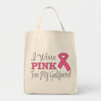 I Wear Pink For My Girlfriend (Pink Ribbon Ver. C) Bags