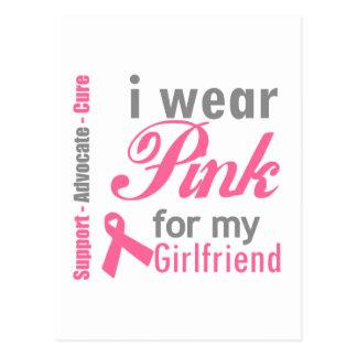 I Wear Pink For My Girlfriend Postcard