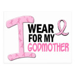 I Wear Pink For My Godmother 21 BREAST CANCER Tees Postcard
