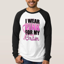 I Wear Pink for My Gram - Breast Cancer T-Shirt