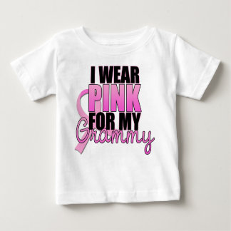 I Wear Pink for My Grammy - Breast Cancer Baby T-Shirt
