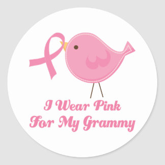 I Wear Pink For My Grammy Classic Round Sticker