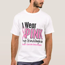 I Wear Pink For My Granddaughter 10 Breast Cancer T-Shirt