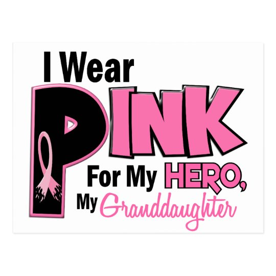 I Wear Pink For My Granddaughter 19 Postcard