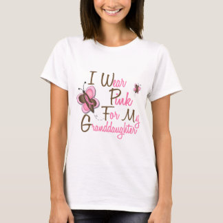 I Wear Pink For My Granddaughter 22 BREAST CANCER T-Shirt