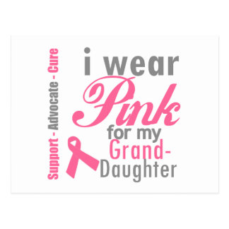 I Wear Pink For My Granddaughter Post Card