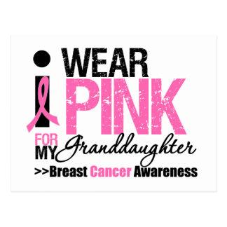 I Wear Pink For My Granddaughter Postcard