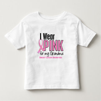 I Wear Pink For My Grandma 10 Breast Cancer Toddler T-shirt