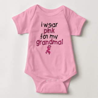 I Wear Pink for My Grandma ($18.95) Baby Bodysuit