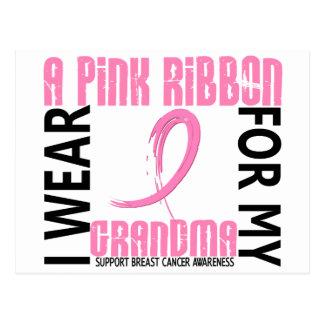 I Wear Pink For My Grandma 46 Breast Cancer Postcard