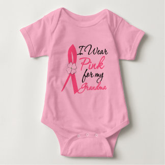 I Wear Pink For My Grandma Baby Bodysuit