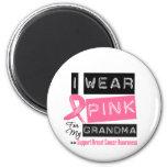 I Wear Pink For My Grandma Breast Cancer Fridge Magnet