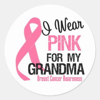 I Wear Pink For My Grandma Classic Round Sticker