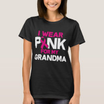I Wear Pink For My Grandma Kids Youth Tee Breast C