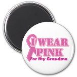 I wear pink for my grandma magnets