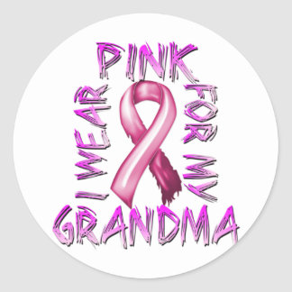 I Wear Pink for my Grandma.png Classic Round Sticker