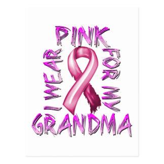 I Wear Pink for my Grandma.png Postcard