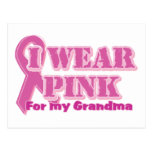 I wear pink for my grandma post cards