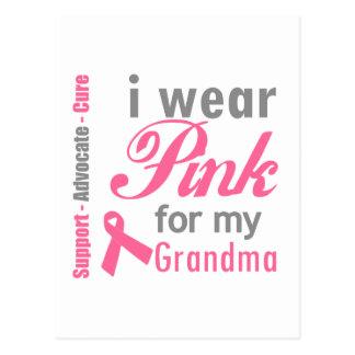 I Wear Pink For My Grandma Postcard