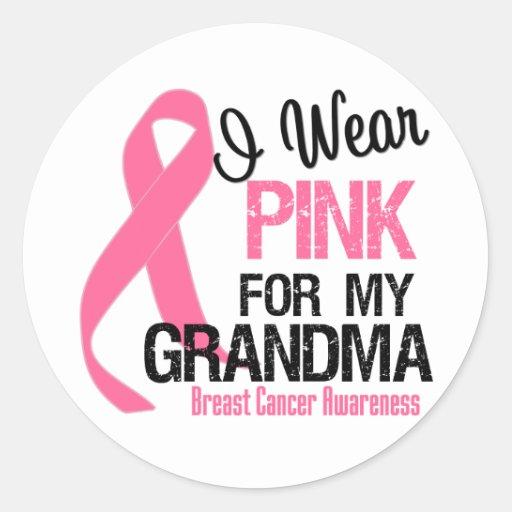 I Wear Pink For My Grandma Round Sticker
