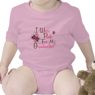 I Wear Pink For My Grandmother 22 BREAST CANCER Romper