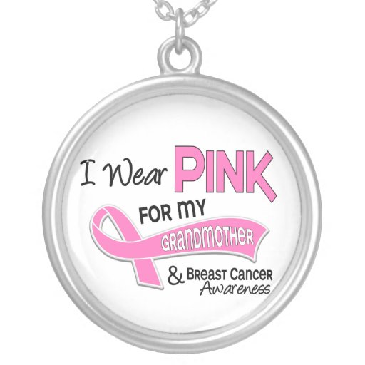 I Wear Pink For My Grandmother 42 Breast Cancer Personalized Necklace