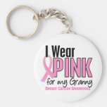 I Wear Pink For My Granny 10 Breast Cancer Key Chain