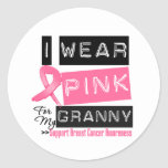 I Wear Pink For My Granny Breast Cancer Round Sticker