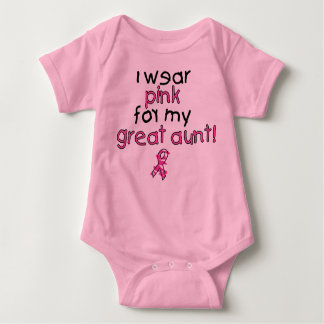 I Wear Pink for My Great Aunt ($18.95) Baby Bodysuit