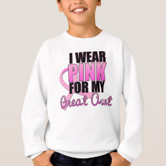 I Wear Pink for My Great Aunt - Breast Cancer Sweatshirt