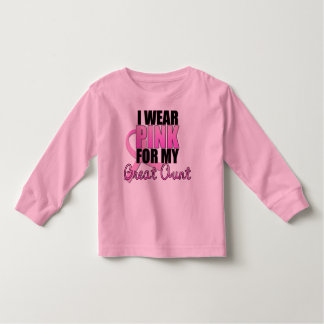 I Wear Pink for My Great Aunt - Breast Cancer Toddler T-shirt