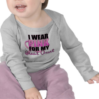I Wear Pink for My Great Aunt - Breast Cancer Tee Shirts