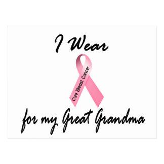 I Wear Pink For My Great Grandma 1 Breast Cancer Postcard