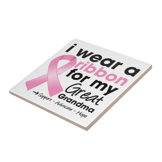 I Wear Pink For My Great-Grandma Breast Cancer Tiles