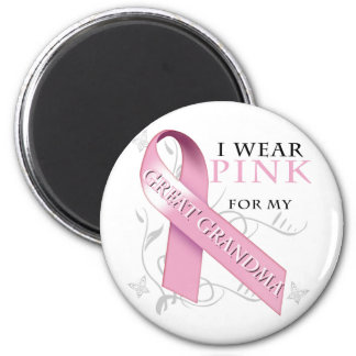 I Wear Pink for my Great Grandma Magnet