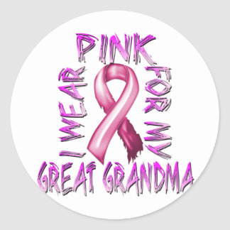 I Wear Pink for my Great Grandma.png Classic Round Sticker