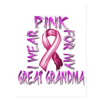 I Wear Pink for my Great Grandma.png Postcard