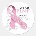 I Wear Pink for my Great Grandma Sticker