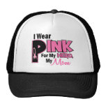 I Wear Pink For My Mom 19 BREAST CANCER Hat