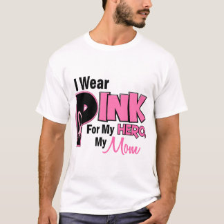 I Wear Pink For My Mom 19 BREAST CANCER T-Shirt