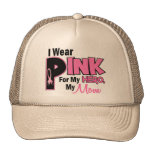 I Wear Pink For My Mom 19 BREAST CANCER Trucker Hat