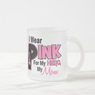 I Wear Pink For My Mom 19 Frosted Glass Coffee Mug