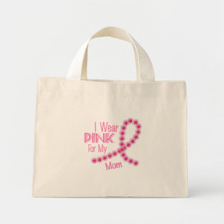 I Wear Pink For My Mom 26 BREAST CANCER Shirts Mini Tote Bag