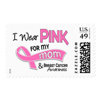 I Wear Pink For My Mom Breast Cancer 42 Postage Stamp