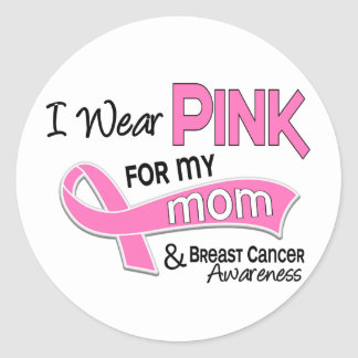 I Wear Pink For My Mom Breast Cancer 42 Sticker