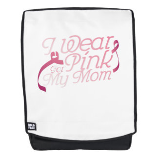 I Wear Pink For My Mom Breast Cancer Awarenesss Backpack