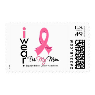 I Wear Pink For My Mom Breast Cancer Postage